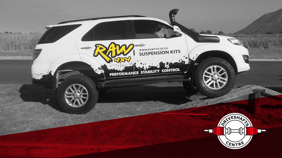 RAW 4x4 africa Suspension kit and shock absorbers